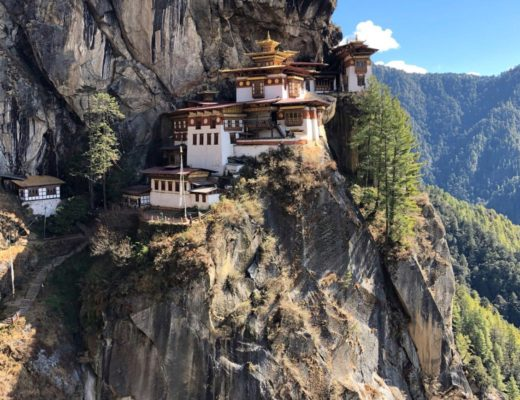 The iconic Tiger's Nest in Bhutan